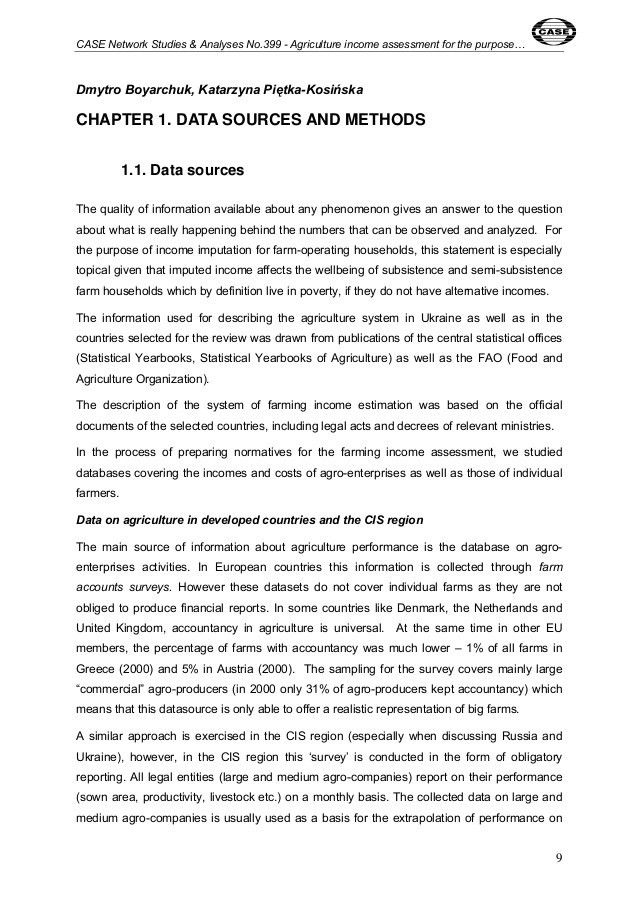 CASE Network Studies and Analyses 399 - Agriculture Income Assessment…