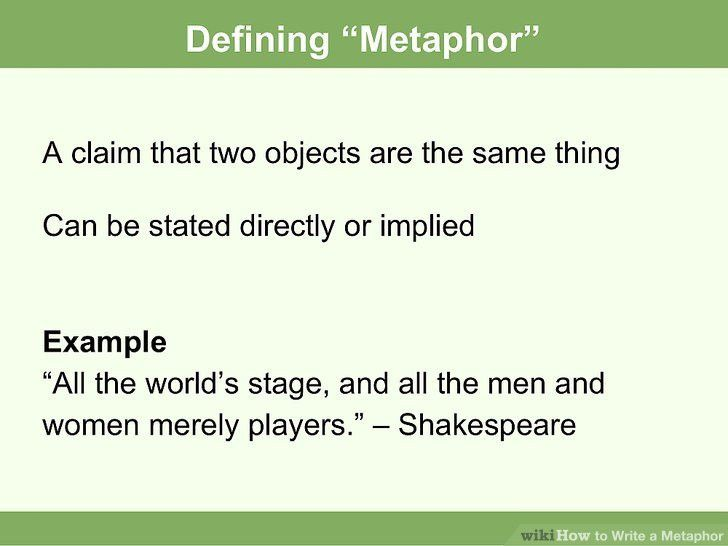 How to Write a Metaphor (with Examples) - wikiHow