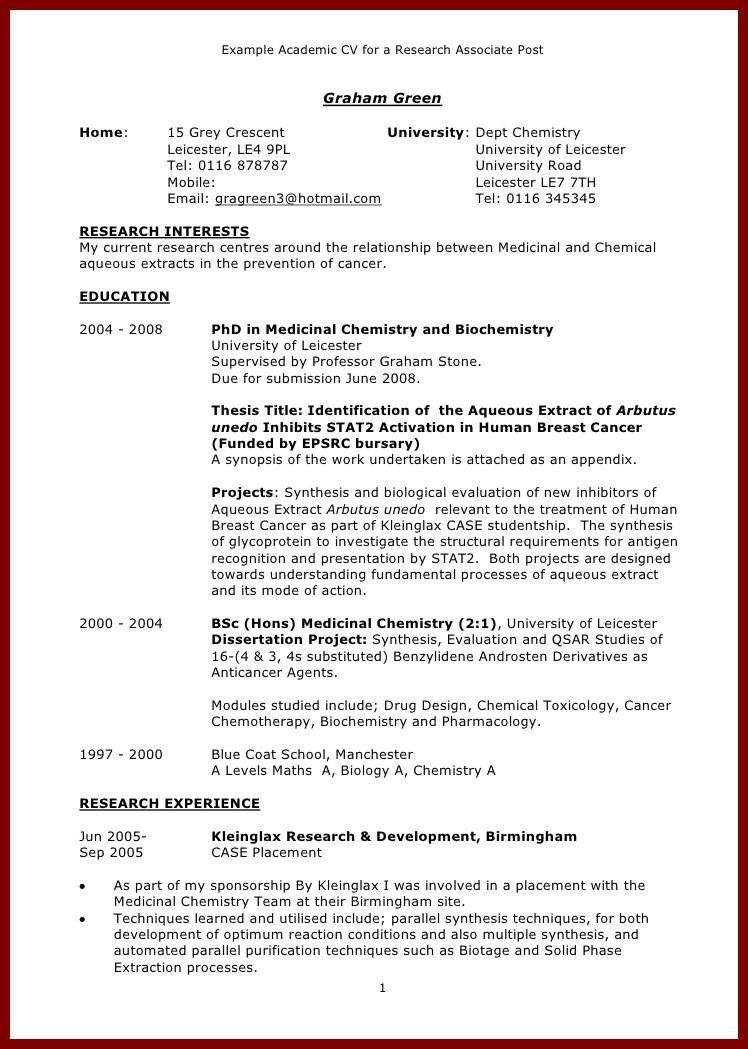 resume template academic word best photos of cv within 81 ...
