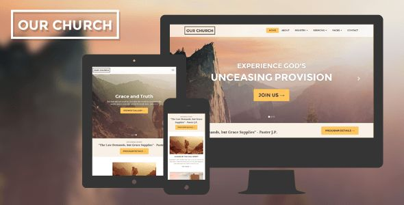 HTML Church Website Templates from ThemeForest