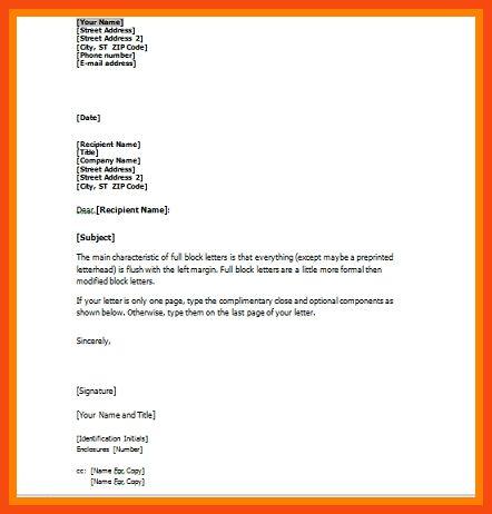 sample business letter attachment | program format