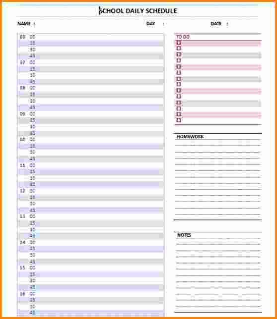 5+ daily agenda template | Authorization Letter