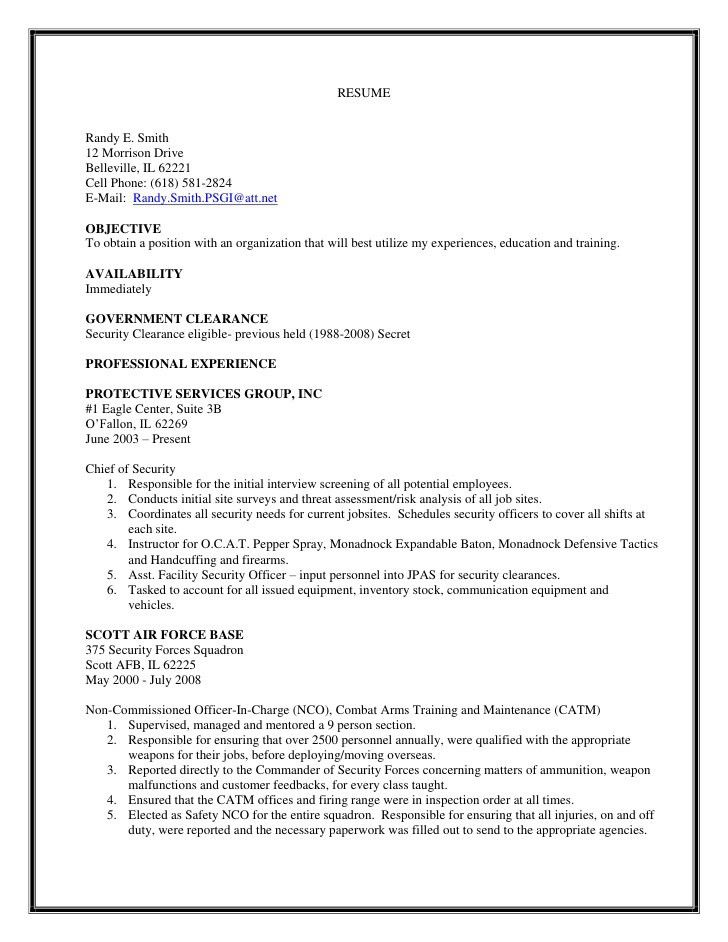 security forces resume template sample security guard resume. Resume Example. Resume CV Cover Letter