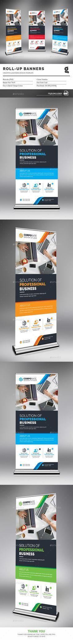 Rollup Banner — Photoshop PSD #both side design #modern design ...