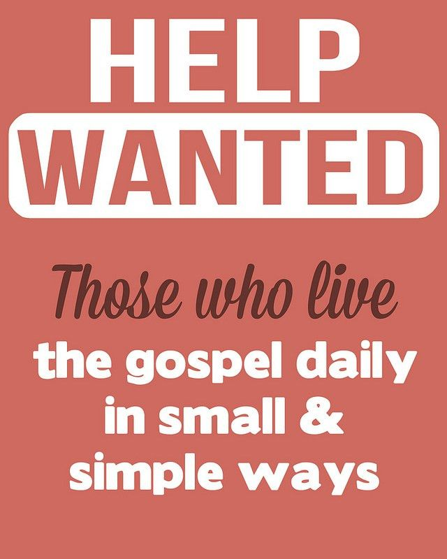 Spiritual Help Wanted! Free Printables - Overstuffed