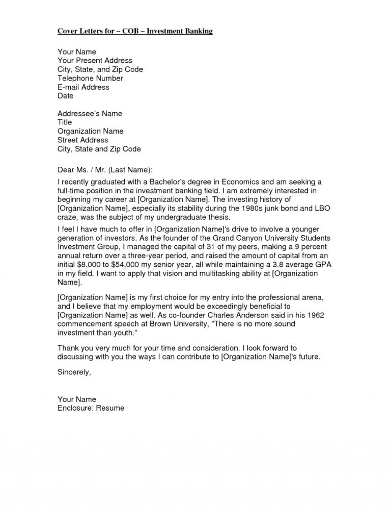 Extremely Inspiration Banking Cover Letter 14 Banker Letters Word ...