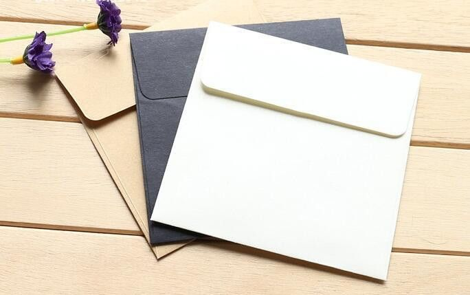 10*10cm Kraft Paper Mini Blank Envelopes for Membership Card ...