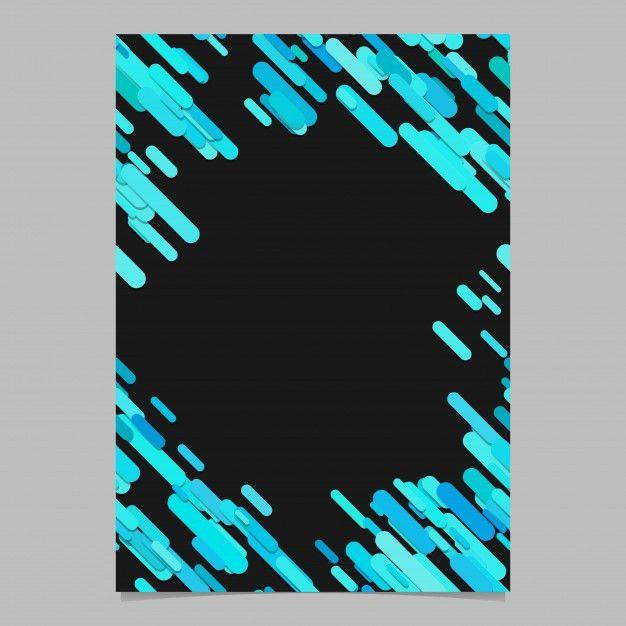 Color random diagonal rounded stripe pattern brochure template ...