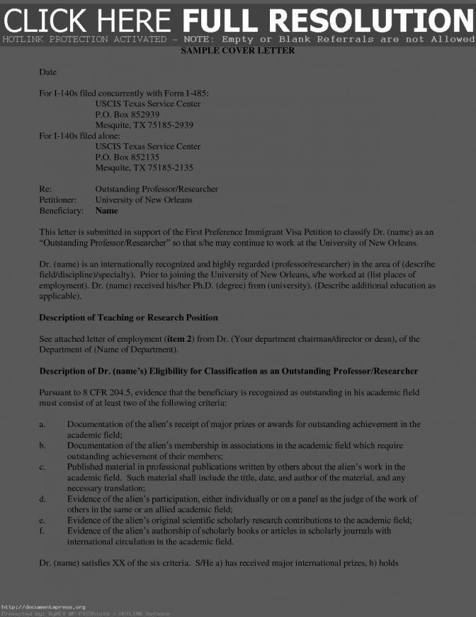 Sample Cover Letter For Form I 539 Templates Fee A ~ Lotcos