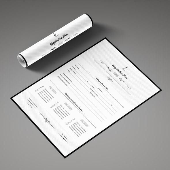Paper Registration Form Template | Samples.csat.co