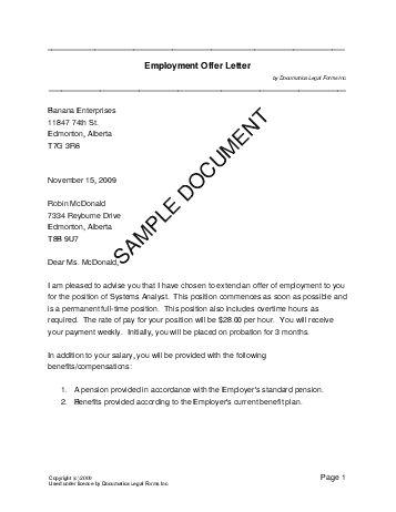 job offer letter template - thebridgesummit.co