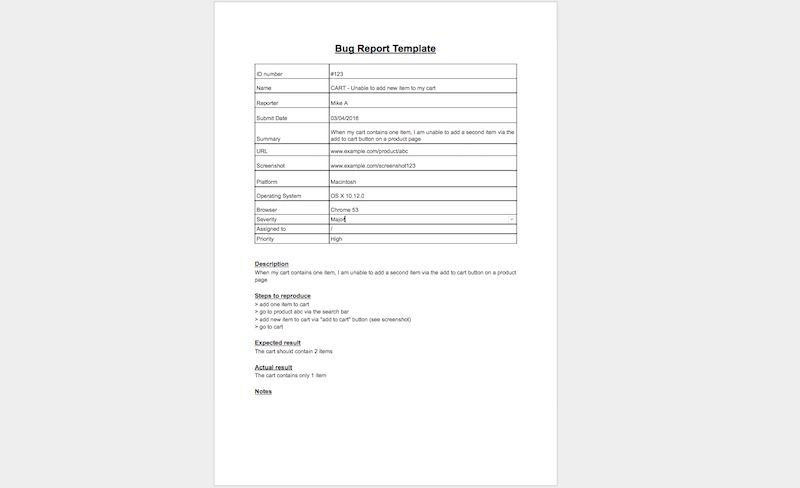 7 Bug Report Template Examples: Software Testing Workflows