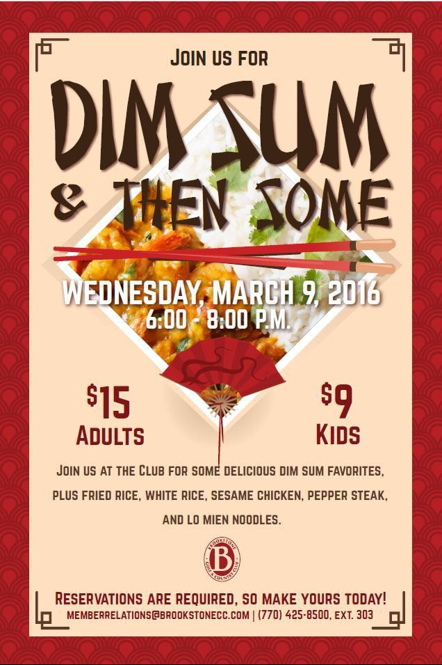 Dim Sum Asian Night dinner poster flyer template | Dinner Events ...