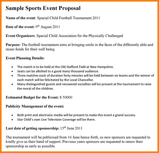 7+ event proposal example | Proposal Template 2017