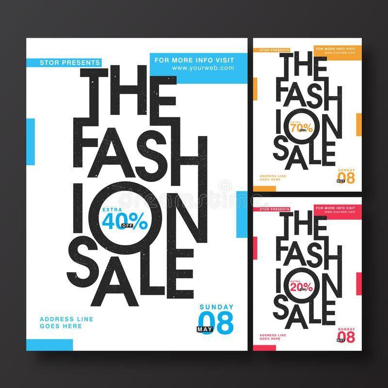 Fashion Sale Poster, Banner Or Flyer Design. Stock Illustration ...