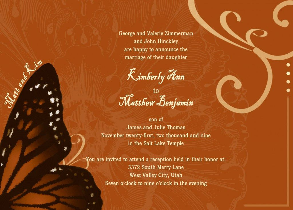 Marriage Invitation Card Format - INVITATION CARD COLLECTION