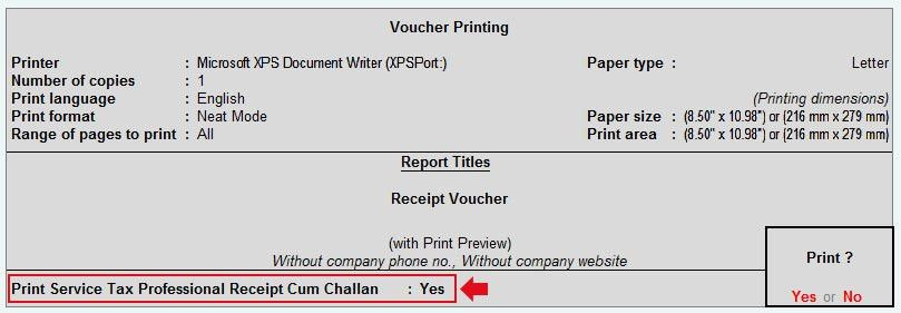 Service charges Invoice or service bill creation In Tally ERP 9
