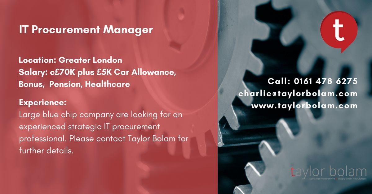 Taylor Bolam - Procurement Recruitment Specialists | LinkedIn