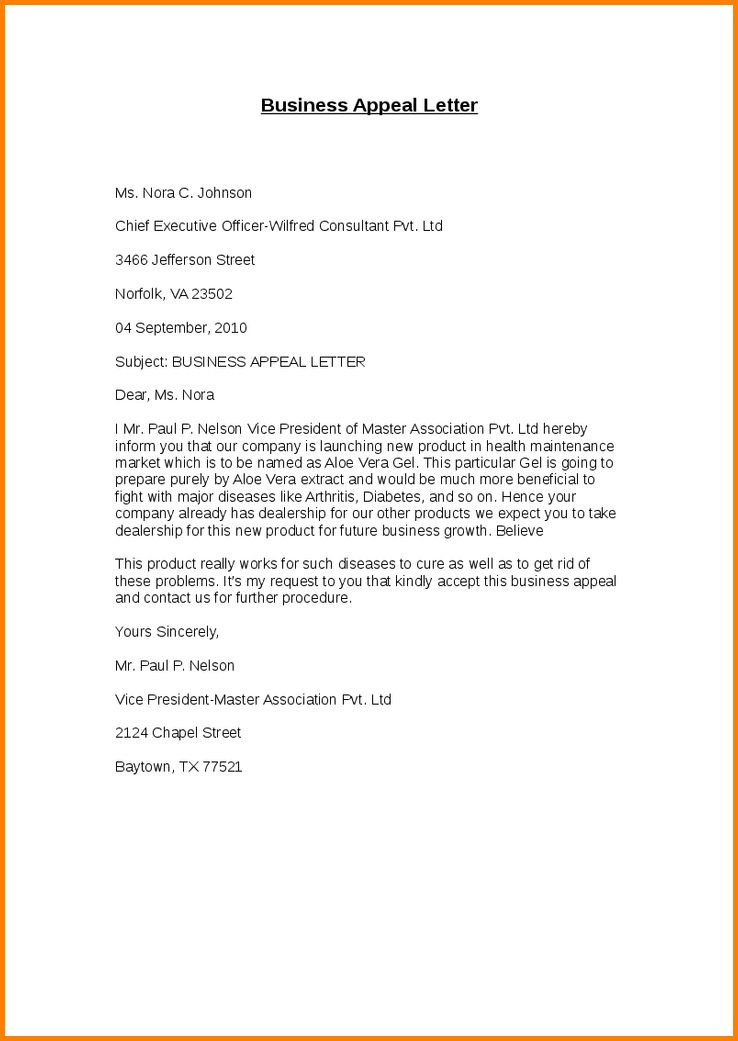 9+ appeal letter format | quote templates