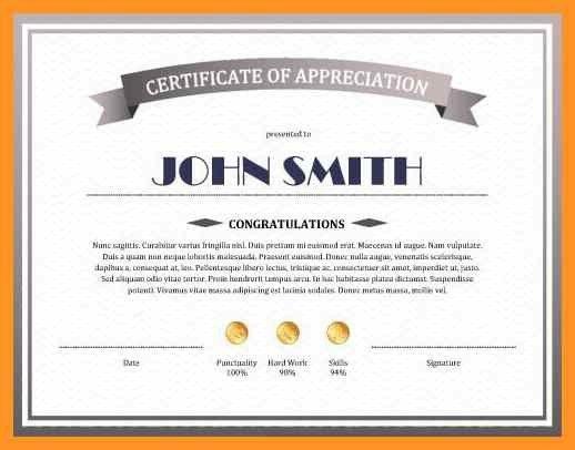 certificate of appreciation template | bio letter format