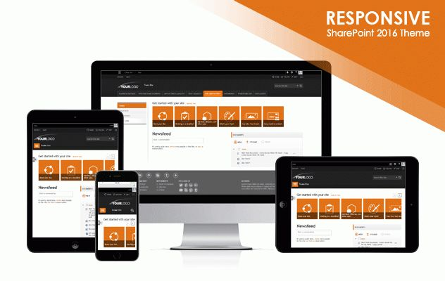 Edgy Accents 2016 SharePoint 2016 Responsive Theme Package ...