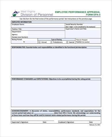 Sample Management Appraisal Forms - 7+ Free Documents in PDF