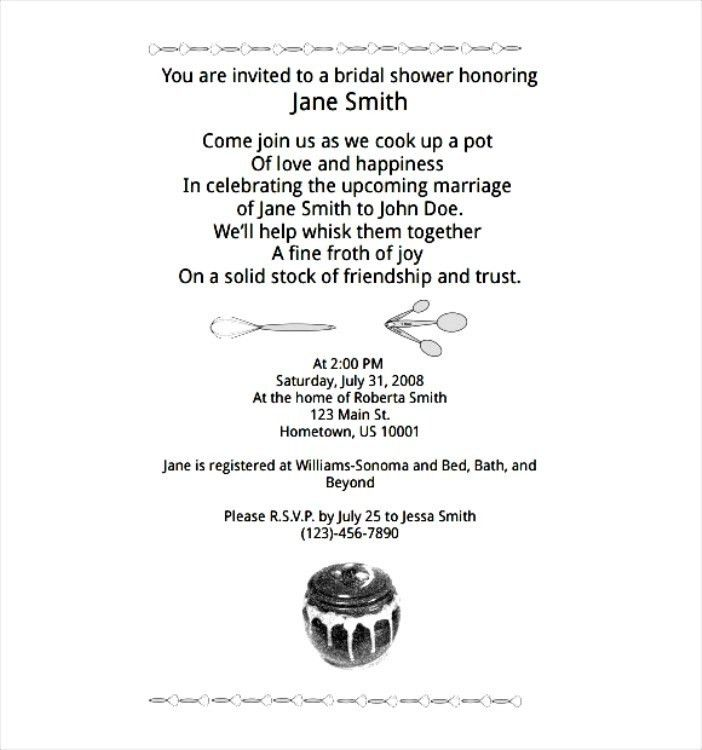 21 Wedding Shower Invitation Templates For Microsoft Word | Vizio ...