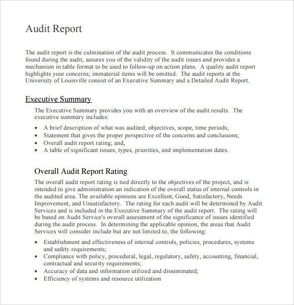 sample auditor report