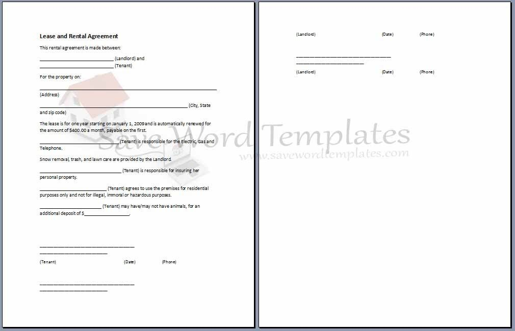 Agreement Templates Archives - Save Word Templates
