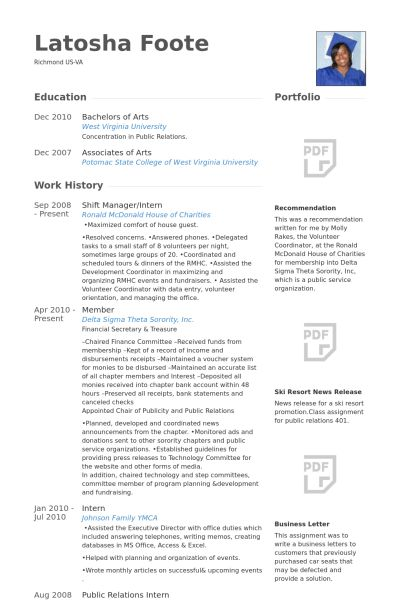 Shift Manager Resume samples - VisualCV resume samples database
