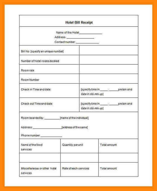 7+ lodge bill format in word | nurse resumed