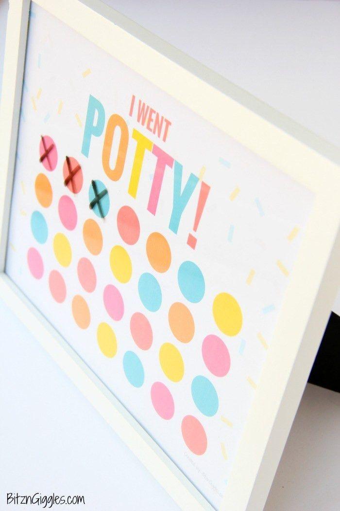 Printable Potty Training Chart - Bitz & Giggles
