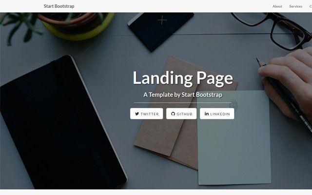 Bootstrap landing themes on BootstrapZero