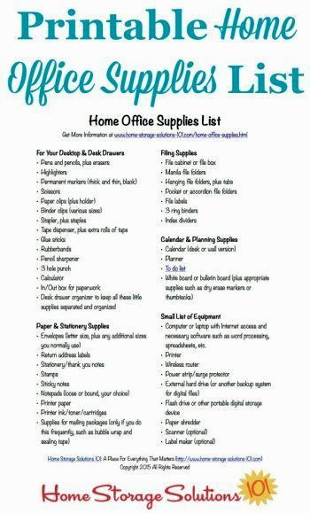 Office Supply Checklist | Gallery Image and Wallpaper