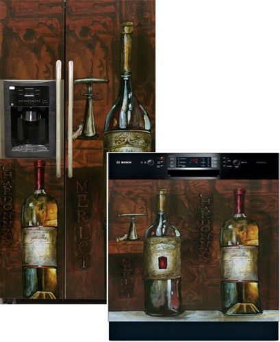 Old World Wine Side by Side Refrigerator & Dishwasher Cover Combo ...