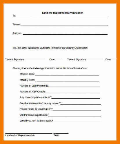 7+ tenant verification form | resume holder