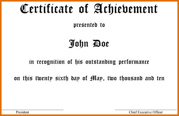 award certificate template wordReference Letters Words   Reference ...