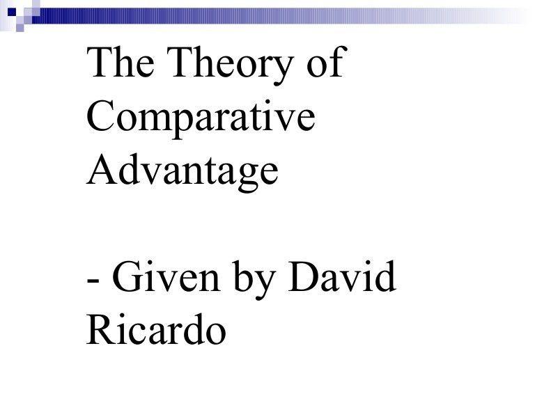 Absolute Advantage Theory