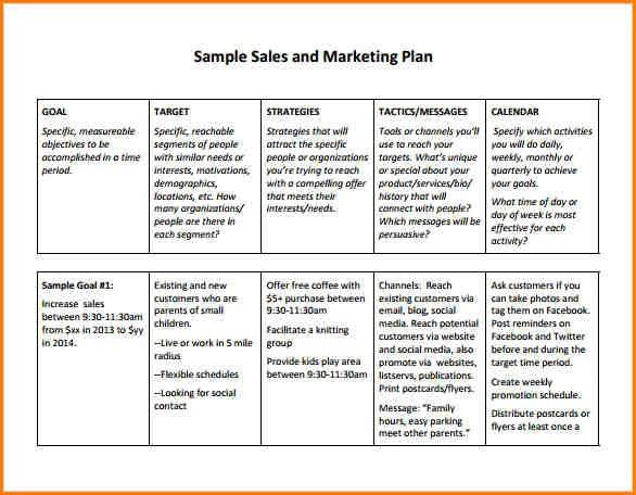 5+ sales plan example | writable calendar