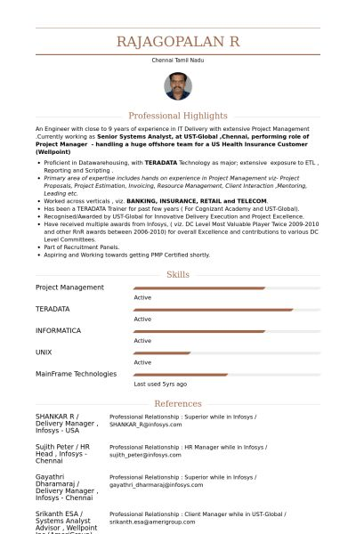 Project Lead Resume samples - VisualCV resume samples database
