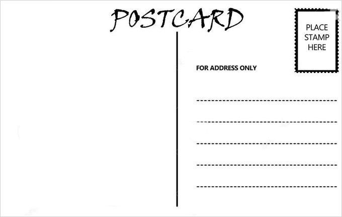 Postcard Template. Standard Postcard Template Blank Postcard ...