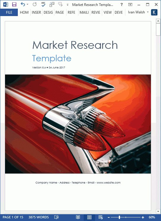 Market Research Templates (10 Word + 2 Excel)