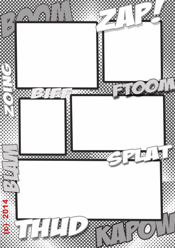 super comic strip template - MY LITTLE SUPERDUDES | cartooning ...