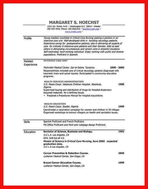 Word Doc Resume Template. 21 Best Resumes Images On Pinterest ...