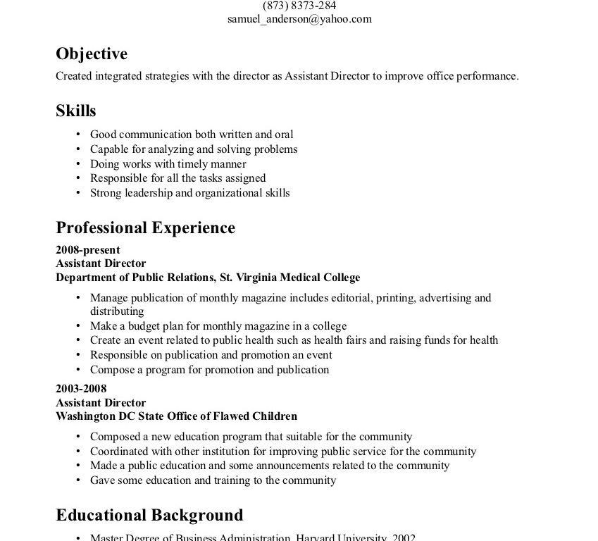 resume communication skills examples some example of resume