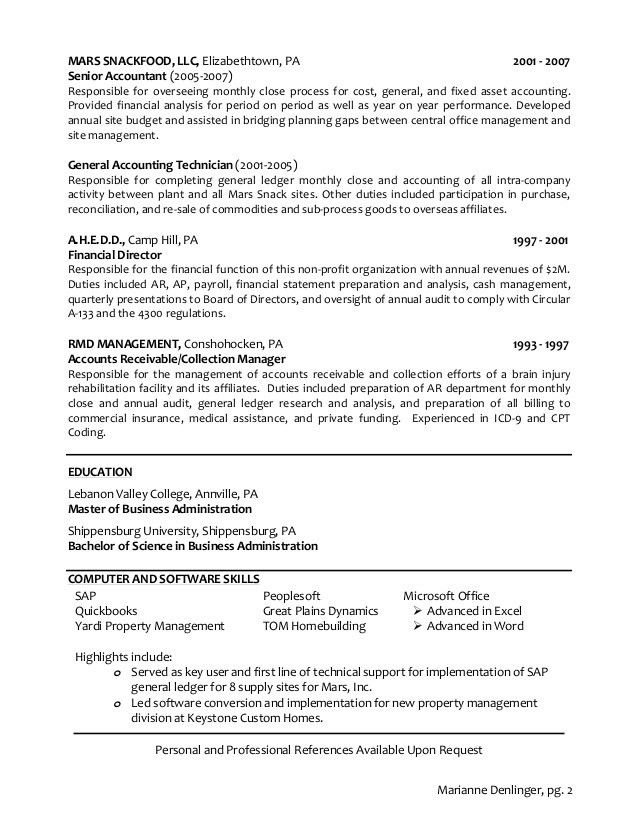 accounting resume skills. property accountant cover letter ...