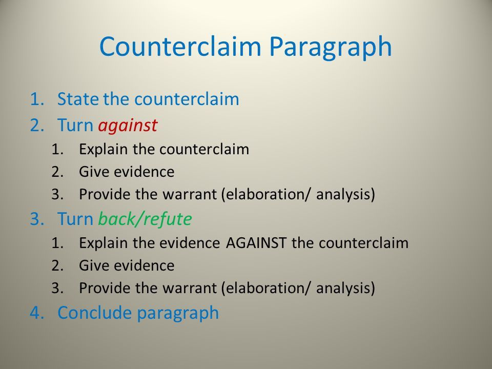 Claims and Counterclaims. A thesis is… What you believe and intend ...