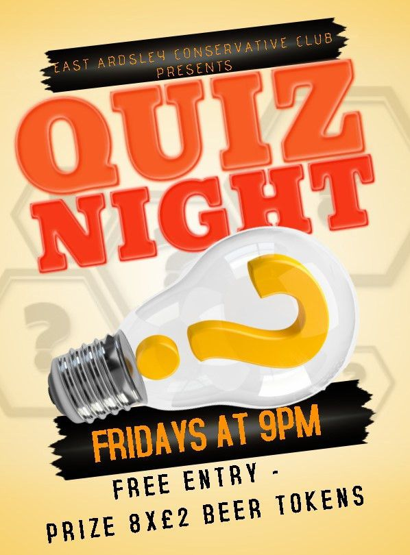 Quiz Night Poster Template - Contegri.com