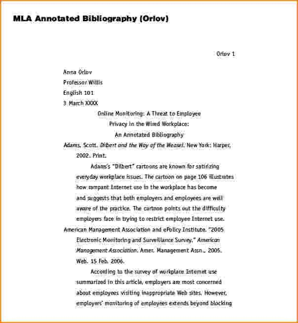 7+ annotated bibliography example mla format | bibliography format
