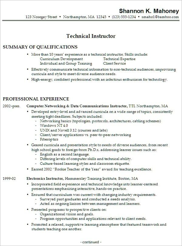 installation technician resume samples. computer field service ...